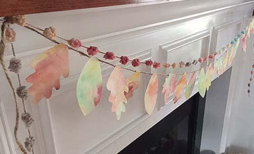 fall watercolor leaf banner | DIY or buy