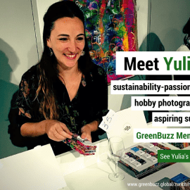 Meet Yulia : Sustainability passionate. hobby photographer. aspiring surfer. GreenBuzz member