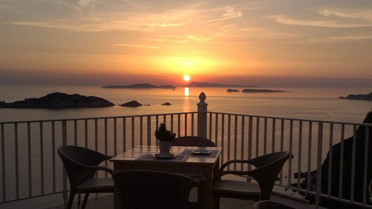 Sunset from Evdemon
