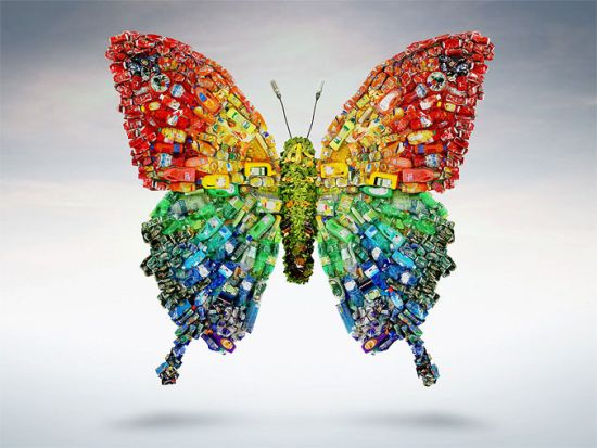 Feel butterflies in your stomach with this recycled art for Art n craft from waste
