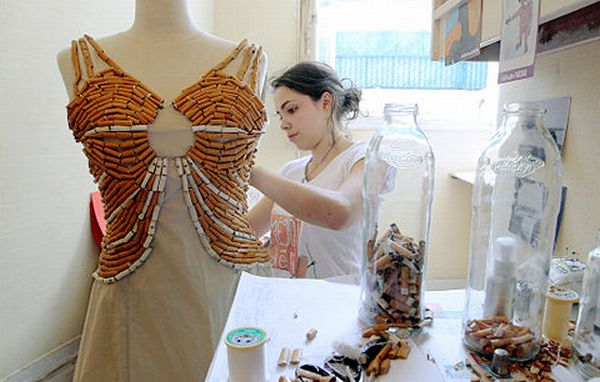 Cigarette Butts dress