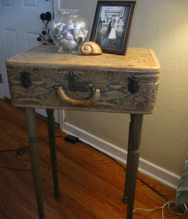 Tall suitcase table