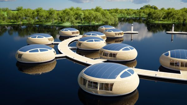 sustainable floating homes take the green quest to water green diary green revolution guide. Black Bedroom Furniture Sets. Home Design Ideas