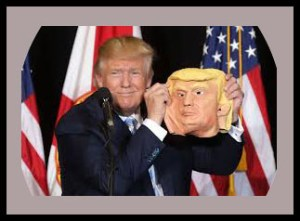"""Look at this mask. Look at this mask. Oh wow. Wow, that's beautiful. Look at that. Looks just like me."" said Donald Trump"