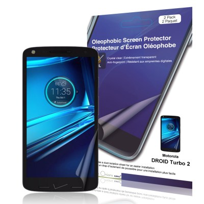 Crystal Oleophobic Screen Protector for DROID Turbo 2