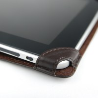 Top-Grain Leather Case for iPad, leather securing band