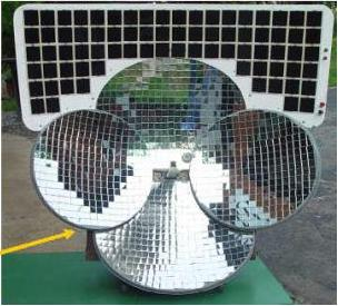 four dish solar furnace DIY: How to Build a Solar Furnace from a Satellite Dish