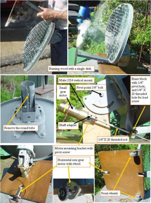 singledish0 DIY: How to Build a Solar Furnace from a Satellite Dish