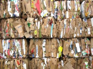 "Cardboards Bale 300x224 ""Turbo Charged"" Bacteria Transforms Cardboard And Tea Bags Into Biofuel"