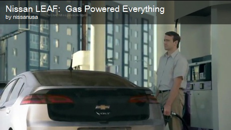 nissan leaf ad New Nissan Leaf Ad Attacks Everything Gas Powered, Including The Chevy Volt