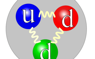 A neutron's quark structure (source: Wikipedia)