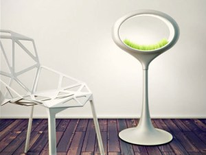 Grass Lamp 300x226 Grass Lamp Illuminates the Home and Grows Hydroponic Vegetation