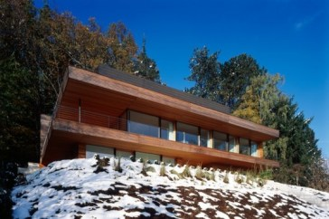 House Heilbronn Heilbronn House, a Sustainable Geothermal Home on the Edge of a German Forest