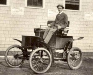 jacob german electric taxi 300x241 First U.S. Speed Offense Done by Electric Taxi in 1899