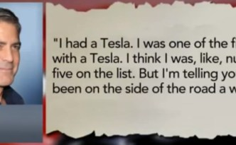 George Clooney vs Tesla Motors?