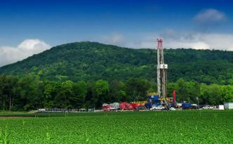 Natural gas rig in Pennsylvania