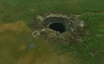 Could climate change explain why this hole opened up in Russia's Yamal Peninsula?