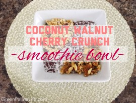 Coconut Walnut Cherry Crunch Smoothie Bowl || These smoothie bowls are the perfect vegan breakfast, snack, or even meal option! It's light, easy to make, and customizable to what you're wanting to fuel your body with that moment! My family LOVES them!