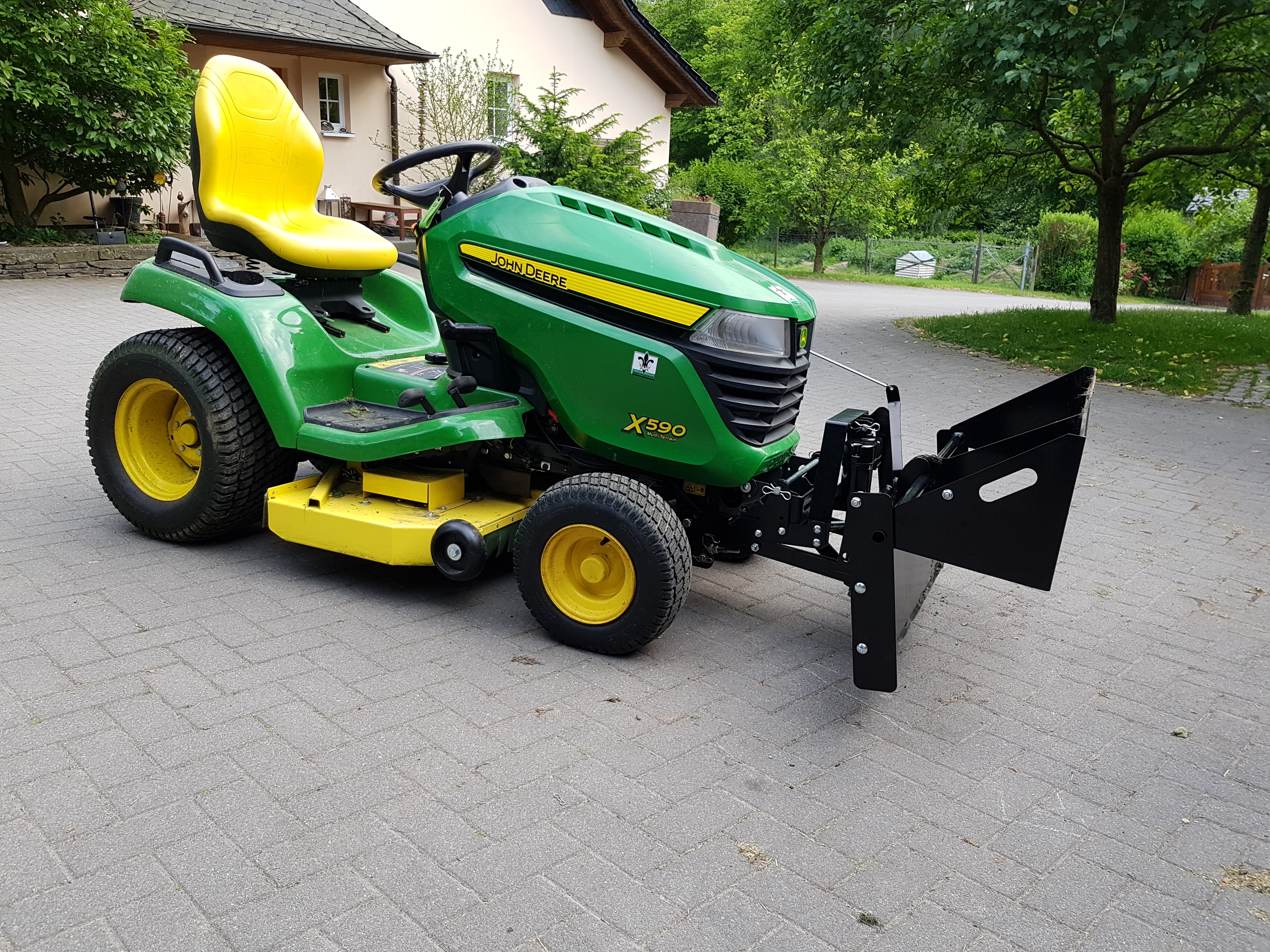 Sterling John Deere John Deere Tractor Shovel John Deere X350 Bagger Review 2017 John Deere X350 Reviews houzz-02 John Deere X350 Reviews