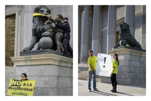 Acciones de protesta pacífica