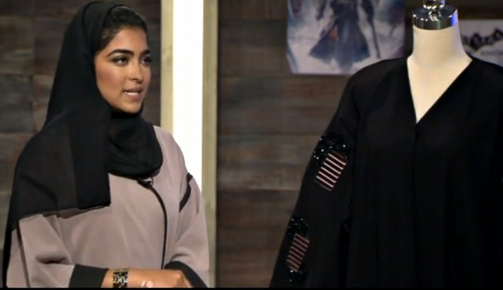 Dubai designer uses nano-tech to turn a traditional black abaya green!