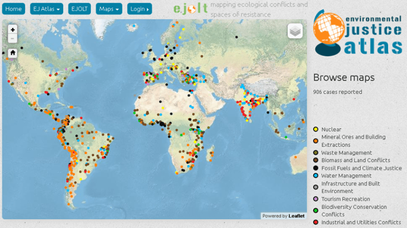 Environmental Justice Atlas maps out ecological conflicts