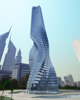 dubai skyscraper building rotating wind image dynamic tower