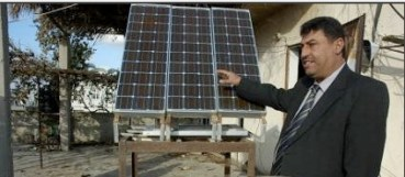 Gaza Teacher Promotes Solar Panels During Blackouts In The Strip