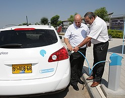 Israel Railways Teams Up With Better Place To Refuel Electric Car Commuters