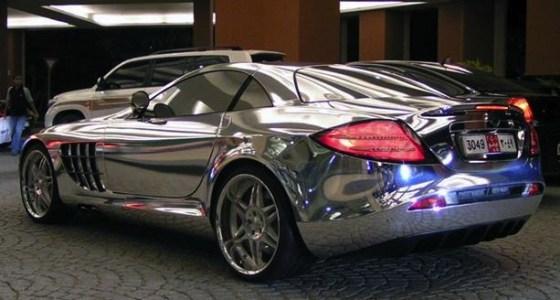 mercedes biofuel, white gold car mclaren