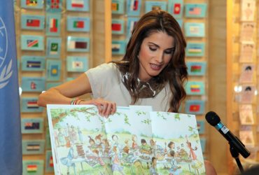 Jordan's Queen Rania Says Educational Environment is as Important as Natural One