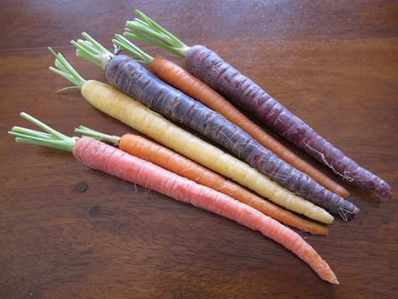 carrots colorful purple