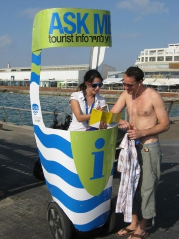Segway Mobile Tourism Information Points Hit Tel Aviv and Jaffa