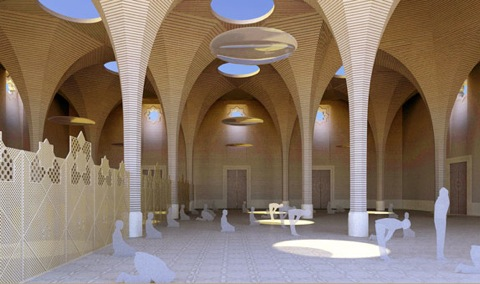 eco-mosque cambridge photo prayer hall