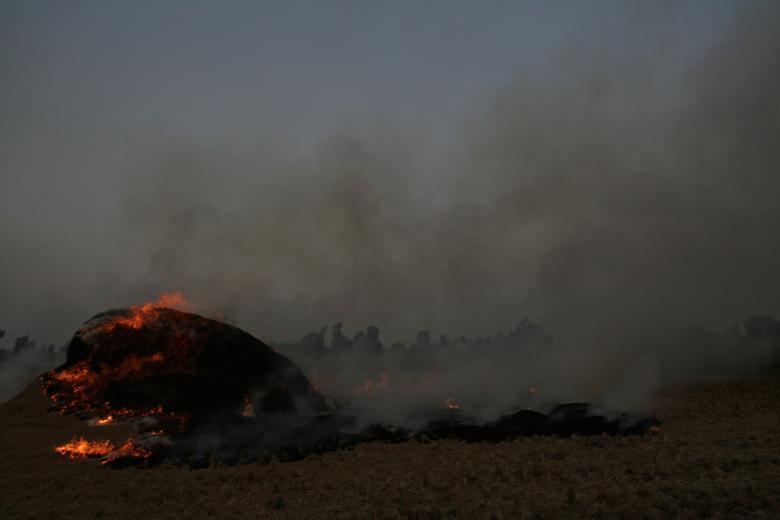 A Black Smog-Craft Chokes Cairo's Skies