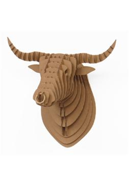 """mounted bull head cardboard"""