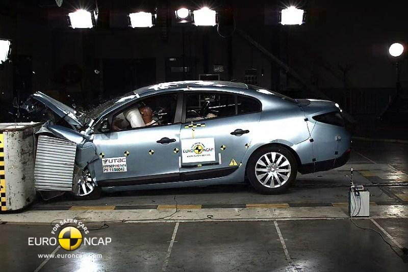 Volt Battery Catches Fire in Crash Test But Beats the Renault Fluence EV