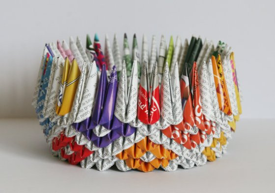 """origami recycled paper"""