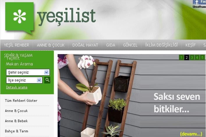 Turkey's First Green Lifestyle Website Yeşilist, Now Bilingual