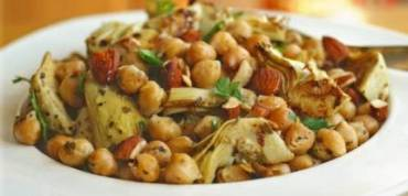 Vegan Chickpea and Artichoke Salad (RECIPE)