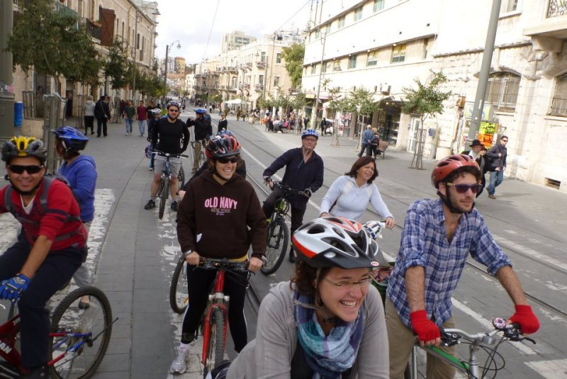 Cyclists Protest Ban on Bikes Aboard Jerusalem's Light Rail
