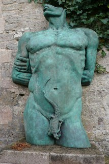 naked man sculpture