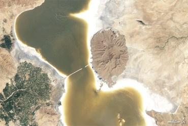 See how Iran's Lake Urmia with Nasa photos