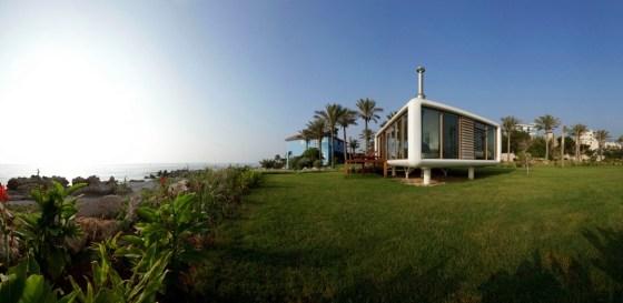 Prefab, minimalist, green design, green building, carbon footprint, Werner Aisslinger, Lebanon, Beirut, Mediterranean, modular construction, nomad