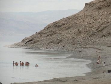 Naked Dead Sea Bathing in Hot Springs All Year Long