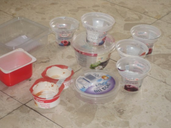 plastic containers Israel Hebrew