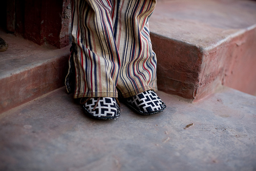 shoe soles legs