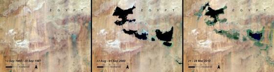 lake shrinking egypt