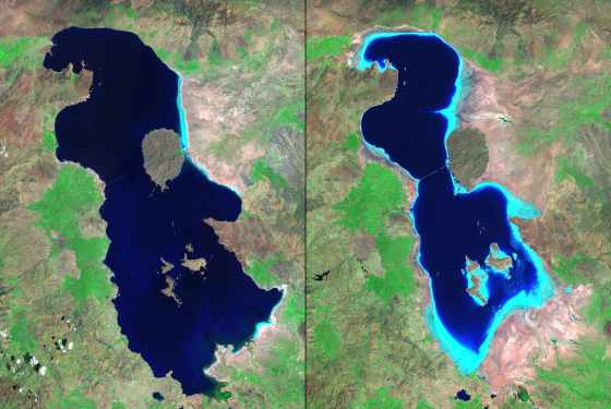 lake iran oroumeih urmia