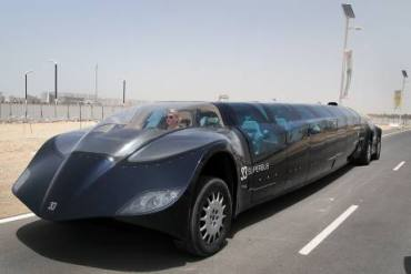 Dubai to Abu Dhabi Electric Superbus Now Road Legal